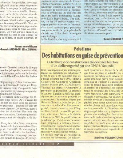 Paludisme, Des habitations en guise de prévention