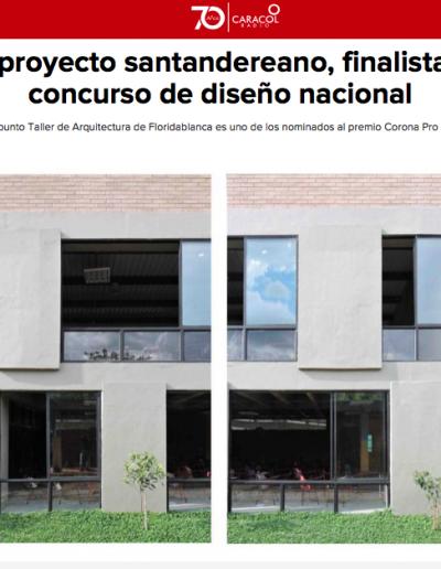 Un proyecto Santandereano, finalista en concurso de diseño nacional